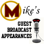 Mike's Guest Broadcast Appearances