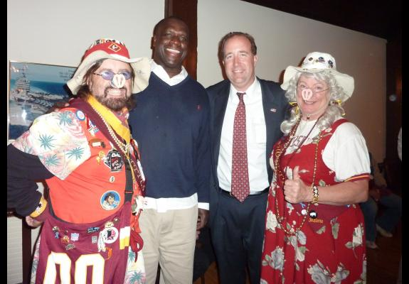 Oct. 16, 2012: Redskins Night hosted by the Alexandria (VA) Sportsman's Club