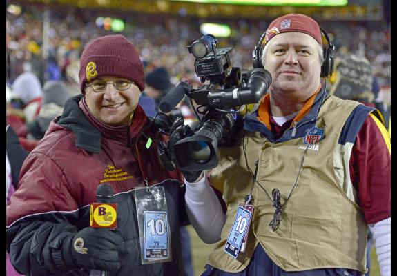 Mike Richman w/ Burgundy & Gold Magazine camerman Robert Snip