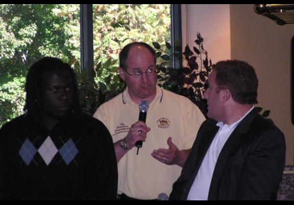 Oct. 21, 2008: Quarterback Club Redskins Players Luncheon, Fairview Park Marriott, Falls Church, VA