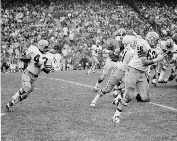Dec. 18, 2014: Famed Redskins running back Larry Brown