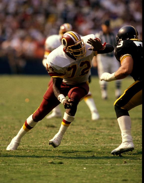 All-Pro Redskins defensive end Dexter Manley